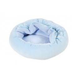 Pelíšek s přikrývkou modrý