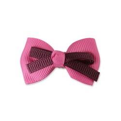 Sponka Double Bow - tm.růžová Ispet