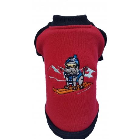 Mikina lyžař červená