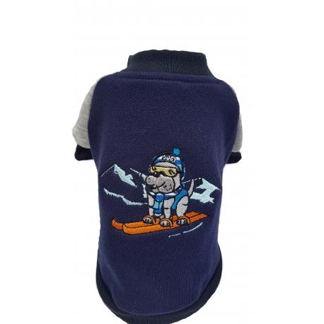 Mikina lyžař modrý