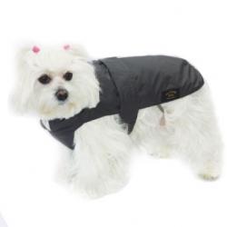 Zimní kabát s fleecovou vložkou ALL BREED s beránkem černý