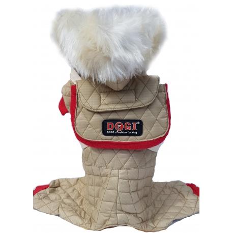 Zimní kombinéza s odepínacím batůžkem béžovokhaky