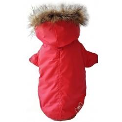 Zimní bunda pro psy Army Barmy červená