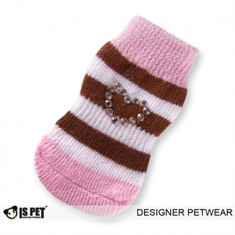 Ponožky ISPET růžovo-hnědé