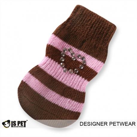 Ponožky ISPET hnědo-růžové