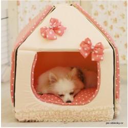 Domeček Lovely Polkadot růžový