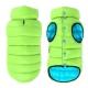 Zimní oboustranná vesta tyrkysově zelená