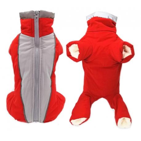 Zimní kombinéza Aspen červená - střih pro holky