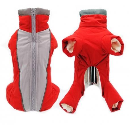 Zimní kombinéza Aspen červená - střih pro kluky