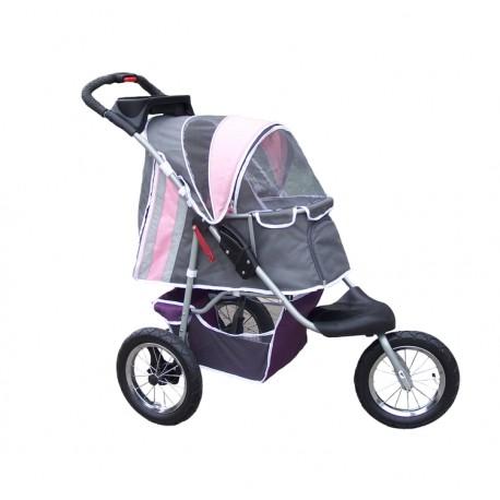 Kočárek Deluxe Buggy Comfort - růžový nafukovací kola