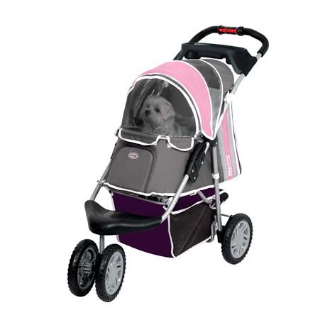 Kočárek pro psy COMFORT tříkolka růžová