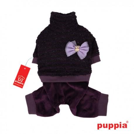 Puppia overal Vaffle fialový