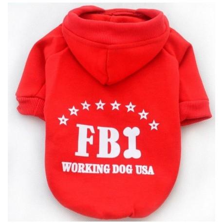Sportovní mikina FBI - červená
