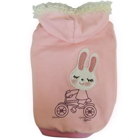 Mikina Bunny růžová - Dogpose