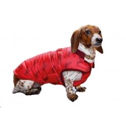 Zimní vesta pro jezevčíky Pumbaa - červená