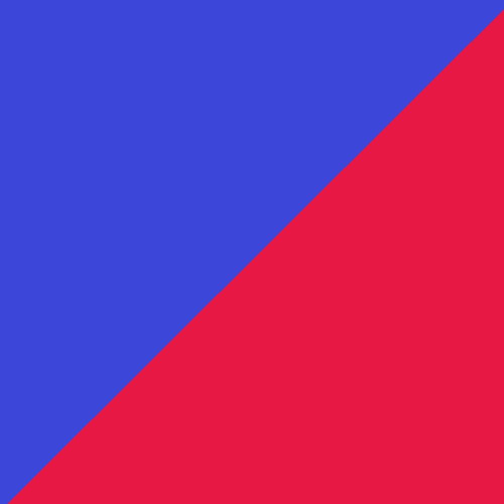 Červená/Modrá
